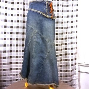 Bebe, Asymmetrical Denim Skirt